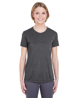 8619L UltraClub Ladies'  Cool & Dry Heathered Performance T-Shirt