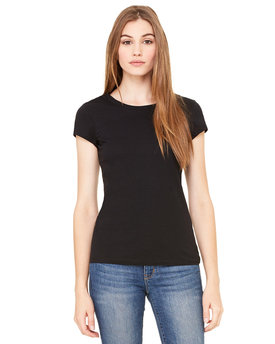 8701 Bella + Canvas Ladies' Sheer Mini Rib Short-Sleeve T-Shirt