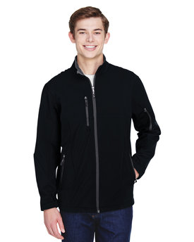88156 Ash City - North End Men's Compass Colorblock Three-Layer Fleece Bonded Soft Shell Jacket
