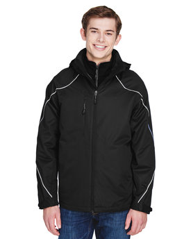 88196T Ash City - North End Men's Tall Angle 3-in-1 Jacket with Bonded Fleece Liner