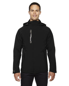 88665 NORTH Men's Axis Soft Shell Jacket with Print Graphic Accents