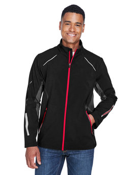 88678 Ash City - North End Sport Red Men's Pursuit Three-Layer Light Bonded Hybrid Soft Shell Jacket with Laser Perforation
