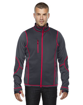 88681 Ash City - North End Sport Red Men's Pulse Textured Bonded Fleece Jacket with Print