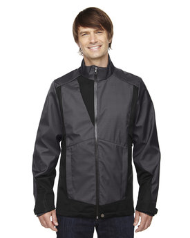 88686 Ash City - North End Sport Blue Men's Commute Three-Layer Light Bonded Two-Tone Soft Shell Jacket with Heat Reflect Technology