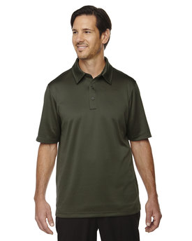 88803 NORTH Men's Exhilarate Coffee Charcoal Performance Polo with Back Pocket