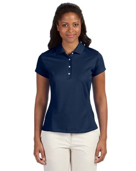 A171 adidas Golf Ladies' climalite Texture Solid Polo
