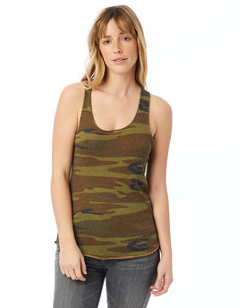 AA1927P Alternative Ladies' Meegs Printed Racerback Eco-Jersey Tank