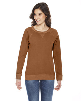 AP205W Authentic Pigment Ladies' French Terry Crew
