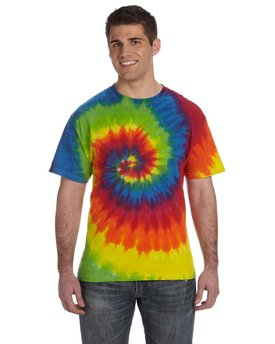 CD100 Tie-Dye Adult 5.4 oz., 100% Cotton Tie-Dyed T-Shirt
