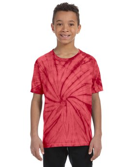 CD101Y Tie-Dye Youth 5.4 oz. 100% Cotton Spider T-Shirt