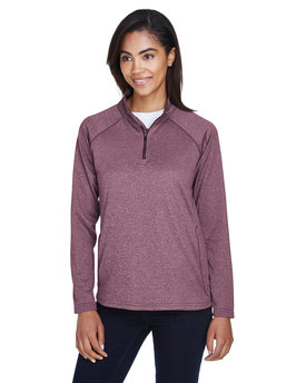 DG440W Devon & Jones Ladies' Stretch Tech-Shell® Compass Quarter-Zip