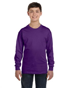G540B Gildan Youth  Heavy Cotton™ 5.3 oz. Long-Sleeve T-Shirt