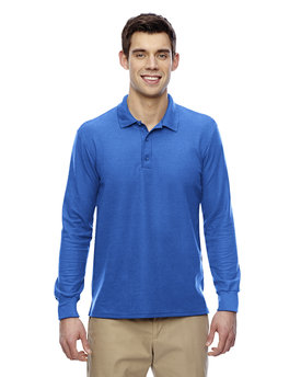 G729 Gildan Adult DryBlend® 6.3 oz. Double Piqué Long Sleeve Polo