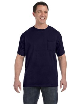 H5590 Hanes Men's 6 oz. Authentic-T Pocket T-Shirt