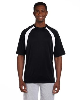 M322 Harriton Adult 4.2 oz. Athletic Sport Colorblock T-Shirt