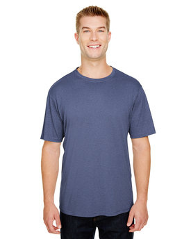 N3381 A4 Adult  Topflight Heather Performance T-Shirt