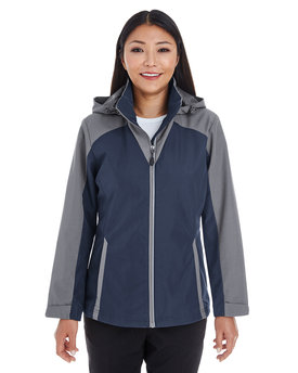NE700W NORTH Ladies' Embark Interactive Colorblock Shell with Reflective Printed Panels