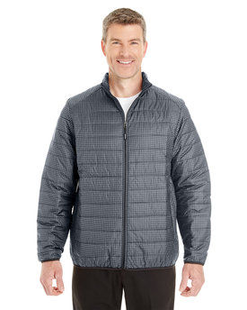 NE701 NORTH Men's Portal Interactive Printed Packable Puffer Jacket