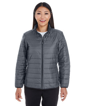 NE701W NORTH Ladies' Portal Interactive Printed Packable Puffer Jacket