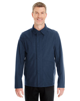 NE705 Ash City - North End Men's Edge Soft Shell Jacket with Fold-Down Collar