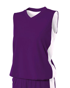NW2320 A4 Drop Ship Ladies' Reversible Moisture Management Muscle Shirt