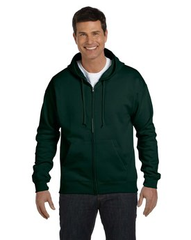 P180 Hanes Adult 7.8 oz. EcoSmart® 50/50 Full-Zip Hood