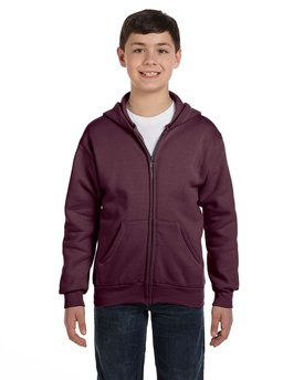 P480 Hanes Youth 7.8 oz. EcoSmart® 50/50 Full-Zip Hood