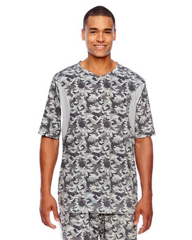 TT12 Team Men's Short-Sleeve Athletic V-Neck Tournament Sublimated Camo Jersey