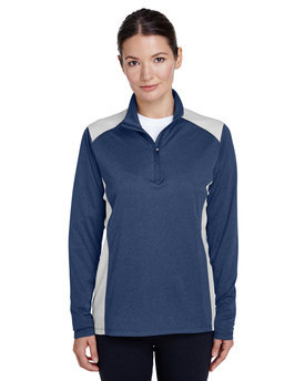 TT26W Team 365 Ladies' Excel Mélange Interlock Performance Quarter-Zip Top