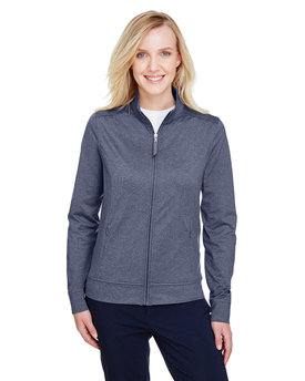 UC400W UltraClub Ladies' Navigator Heather Performance Full-Zip