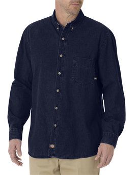 WL300 Dickies 8 OZ DENIM LONG SLEEVE SHIRT