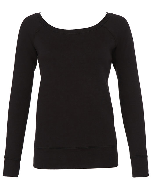 7501 Bella + Canvas Ladies' Sponge Fleece Wide Neck Sweatshirt