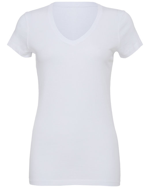 B6005 Bella + Canvas Ladies' Jersey Short-Sleeve V-Neck T-Shirt