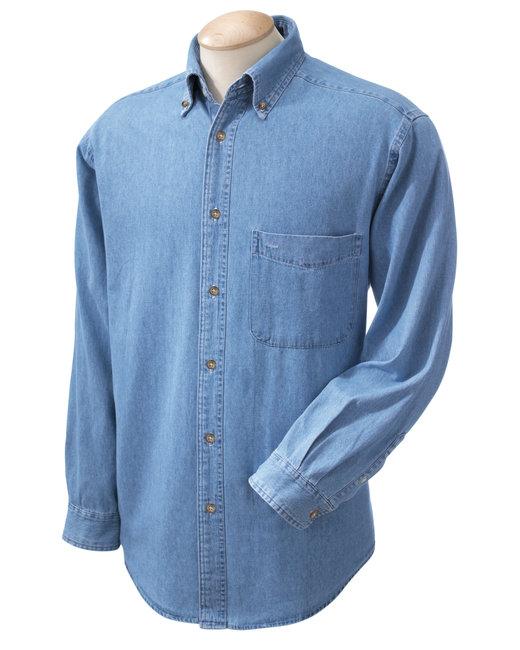 M550 Harriton Men's 6.5 oz. Long-Sleeve Denim Shirt