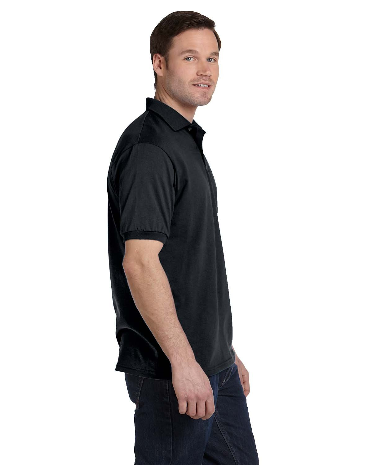 94daf6dd Front Back Side · Gallery View Download HiRes Design Studio. 054 Hanes  Adult 5.2 oz., 50/50 EcoSmart® Jersey Knit Polo