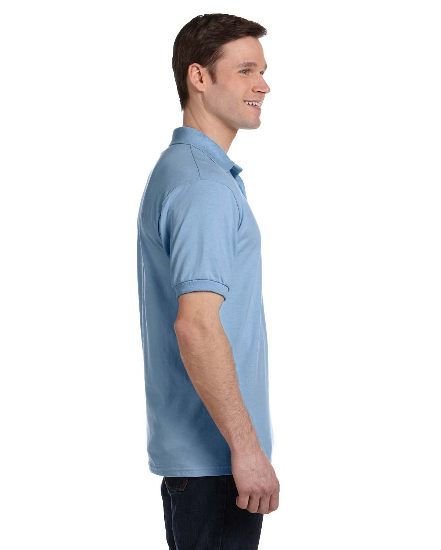 3302bd86 Front Back Side · Gallery View Download HiRes Design Studio. 054P Hanes  Adult 5.2 oz., 50/50 EcoSmart® Jersey Pocket Polo