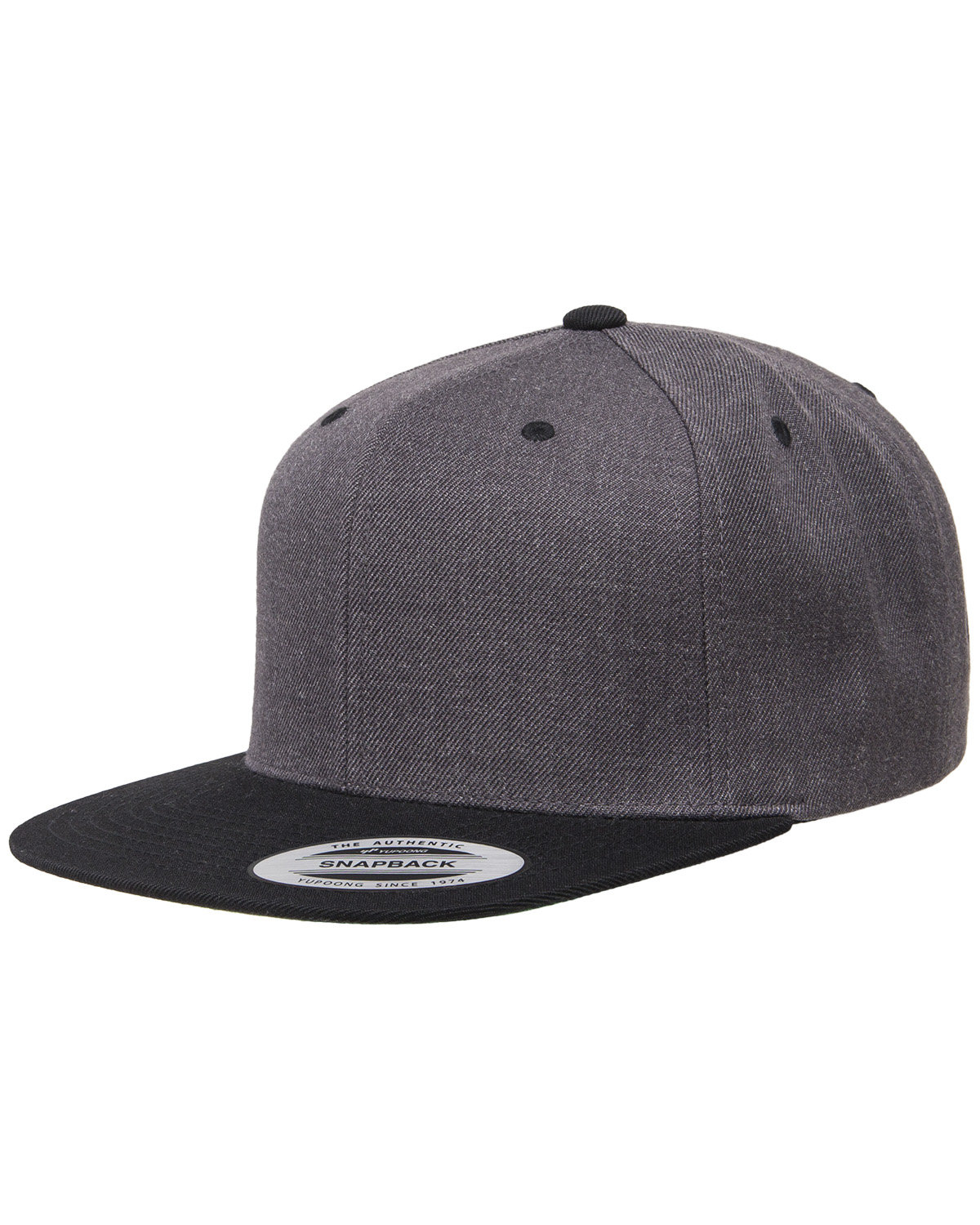 44c824dcc2c 6089MT. Yupoong Adult 6-Panel Structured Flat Visor Classic Two-Tone  Snapback