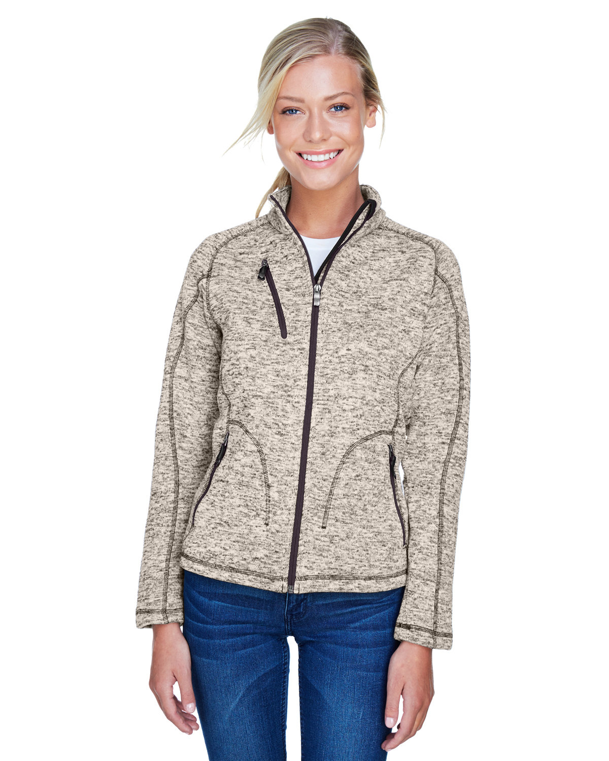 check out 7daa8 287f7 Front Quarter Back Side · Gallery View Download HiRes Design Studio. 78669 Ash  City - North End Ladies  Peak Sweater Fleece Jacket