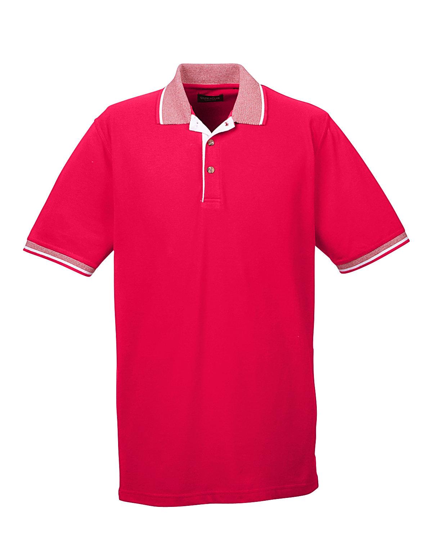 UltraClub Mens Color-Body Pique Stripe Trim Polo Shirt