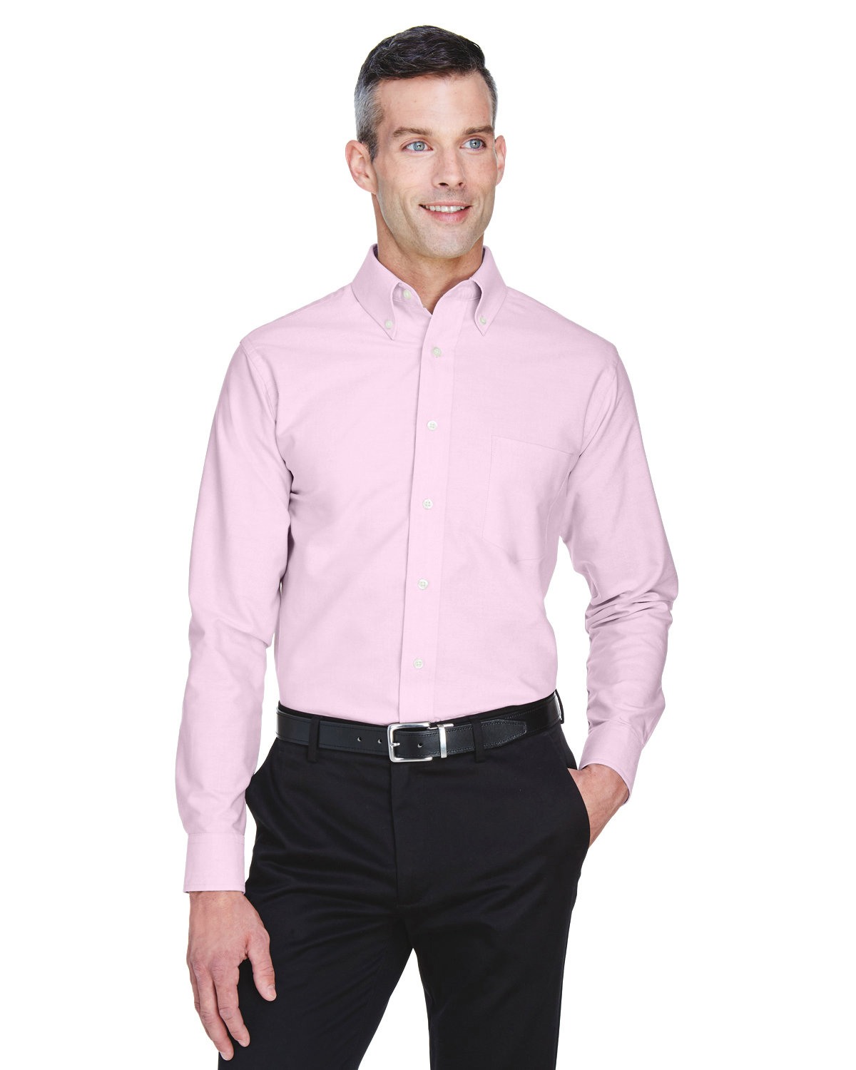 1341d8d4cec 8970 UltraClub Men s Classic Wrinkle-Resistant Long-Sleeve Oxford. Color  Shown  Pink
