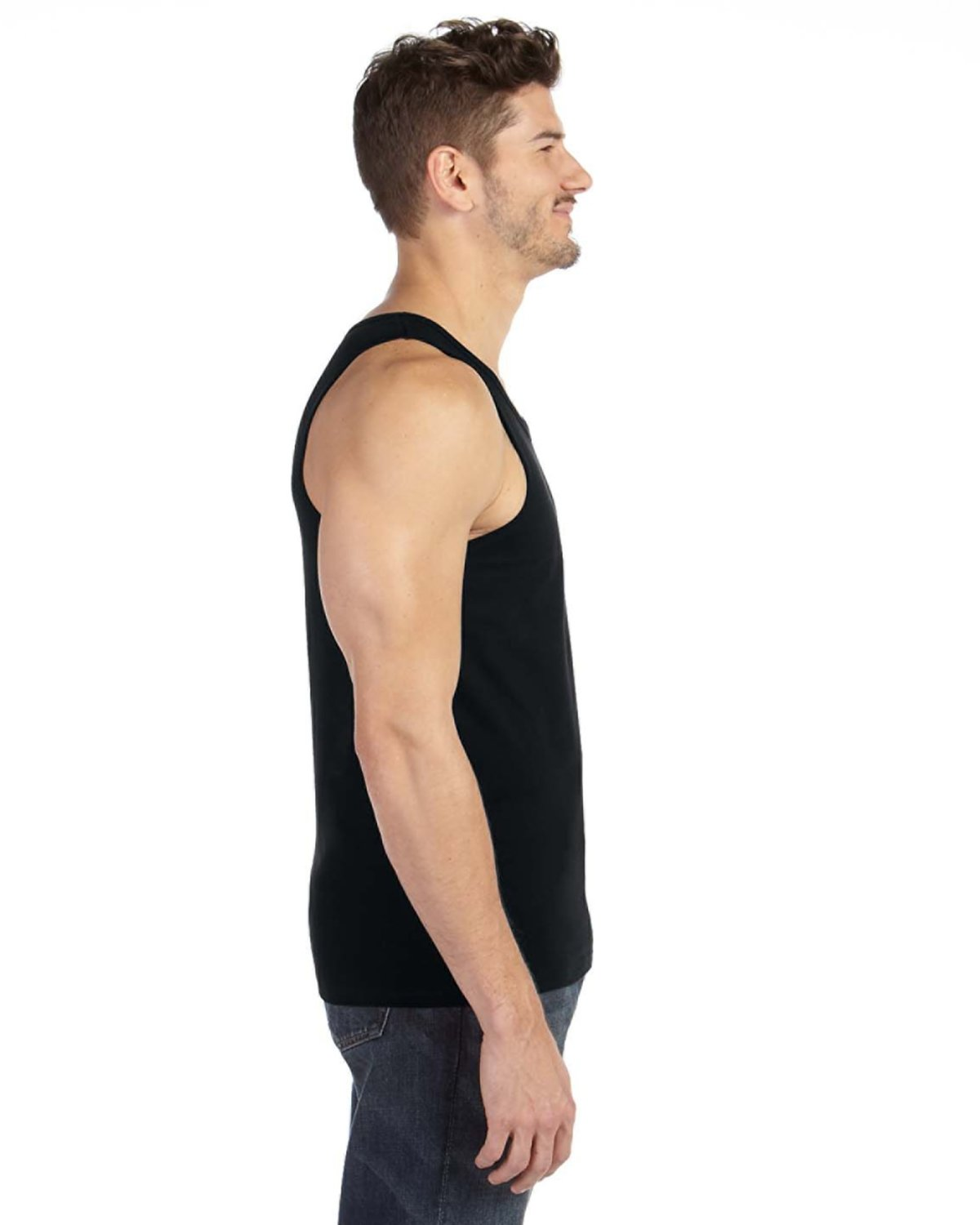 c643aac2cf570 986 Anvil Adult Lightweight Tank. Touch to zoom. Color Shown  black