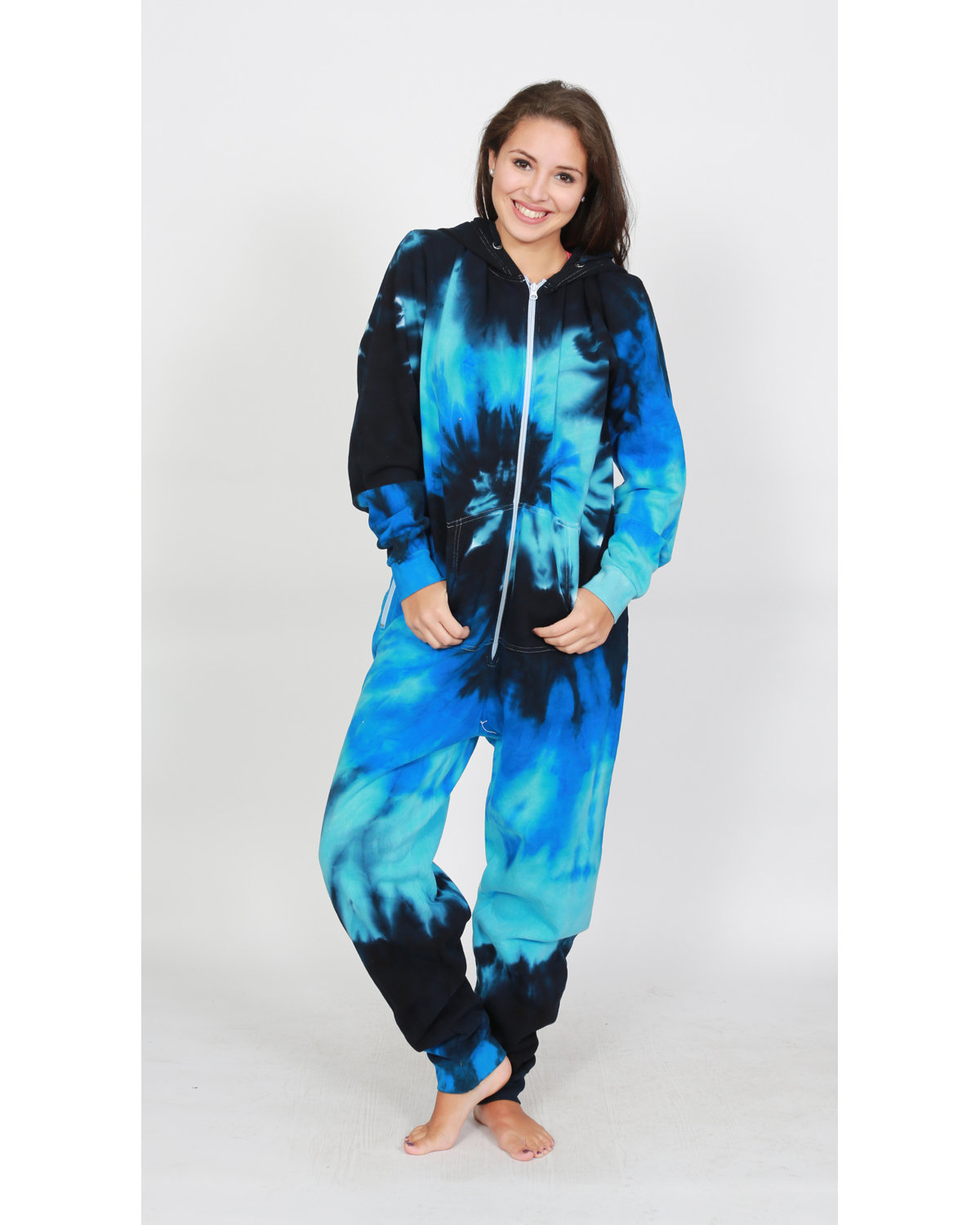 Tie-Dyed Youth All-in-One Loungewear XS Blue Ocean