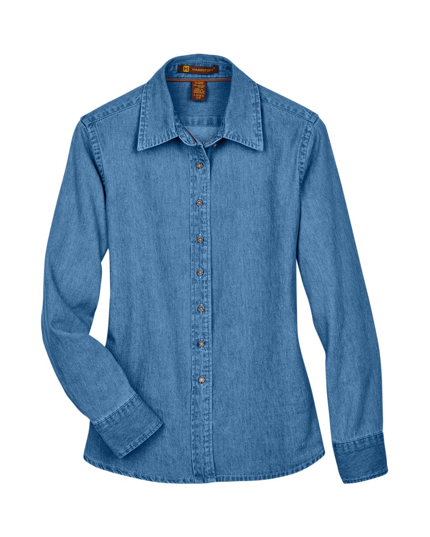 98397e4188b Off Model Off Model Flat Off Model Flat Back. Gallery View Download HiRes  Design Studio. M550W Harriton Ladies  6.5 oz. Long-Sleeve Denim Shirt