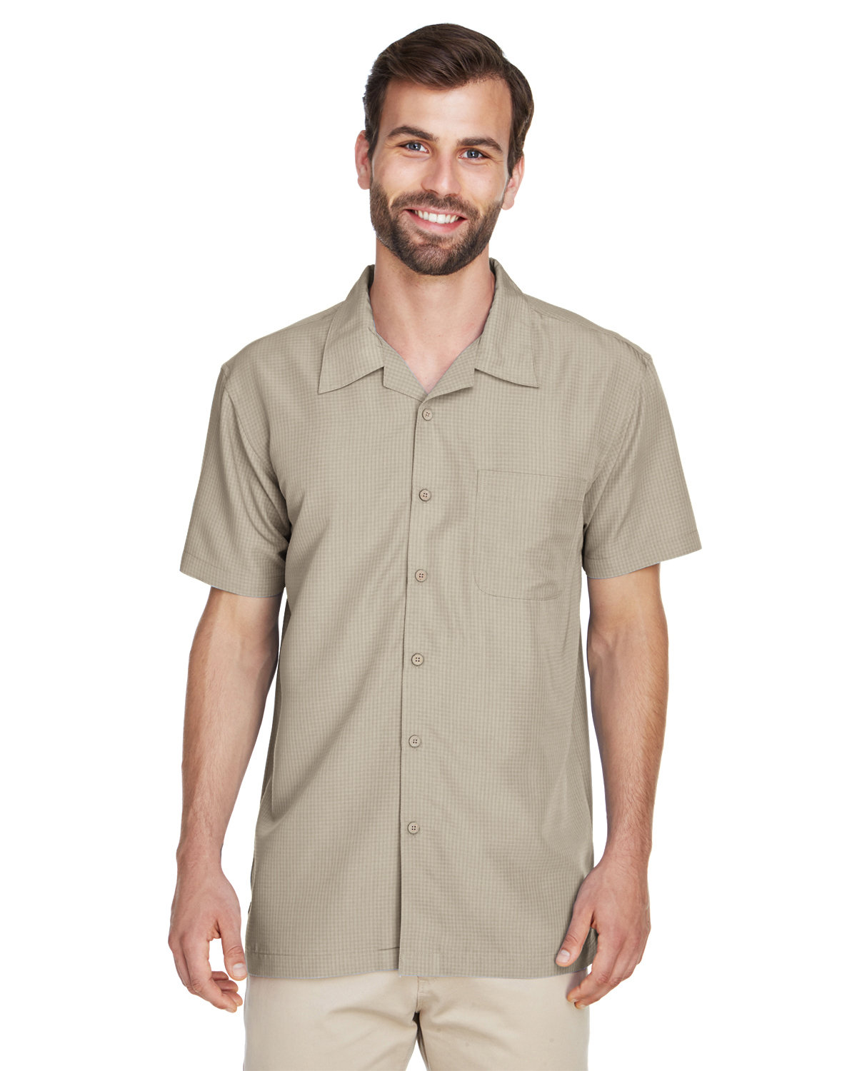 M560 Harriton Mens Barbados Textured Camp Shirt