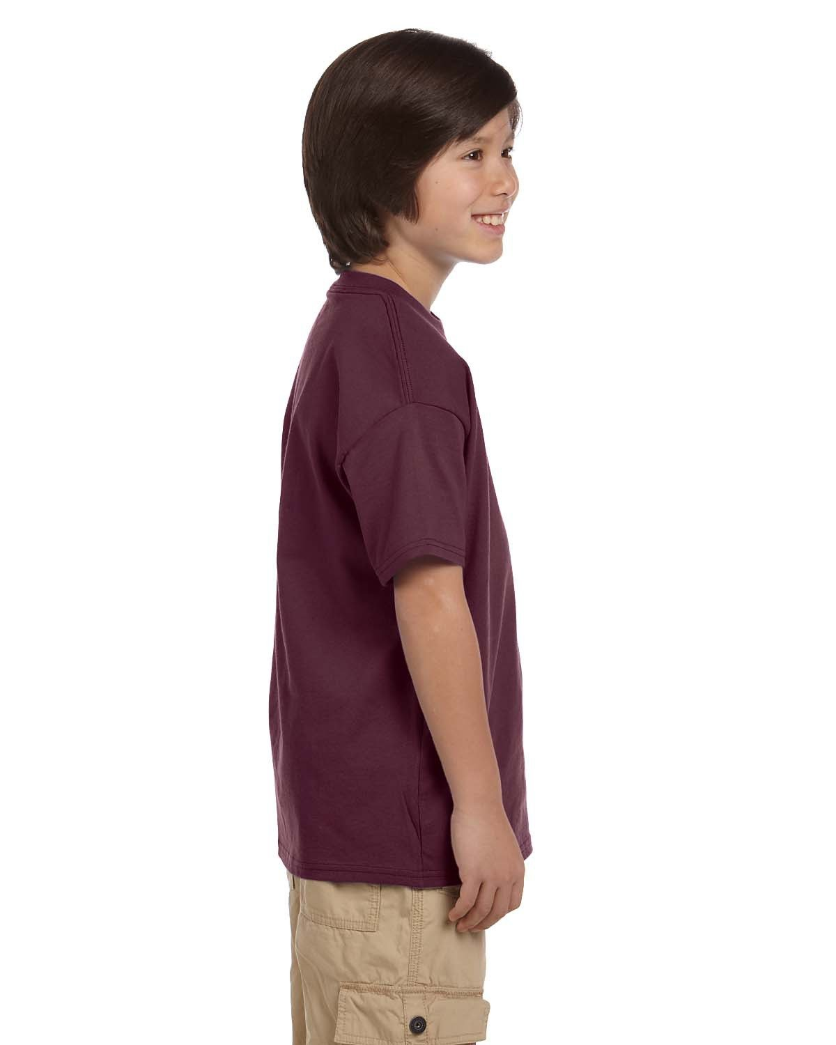 f7452662 T435 Champion Youth 6.1 oz. Short-Sleeve T-Shirt. Touch to zoom. Color  Shown: maroon