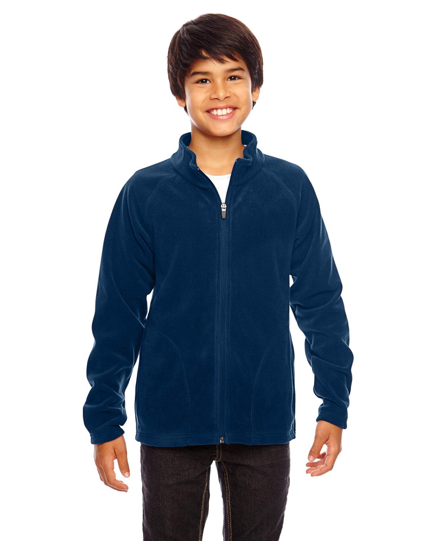 Team 365 Youth Campus Microfleece Jacket Medium Sport Graphite