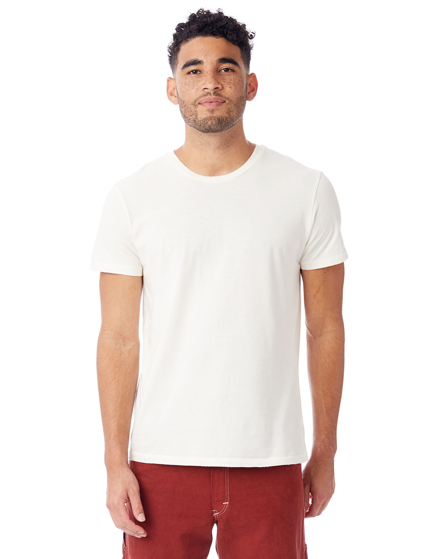 Alternative Men's Heritage Garment-Dyed Distressed T-Shirt VINTAGE WHITE