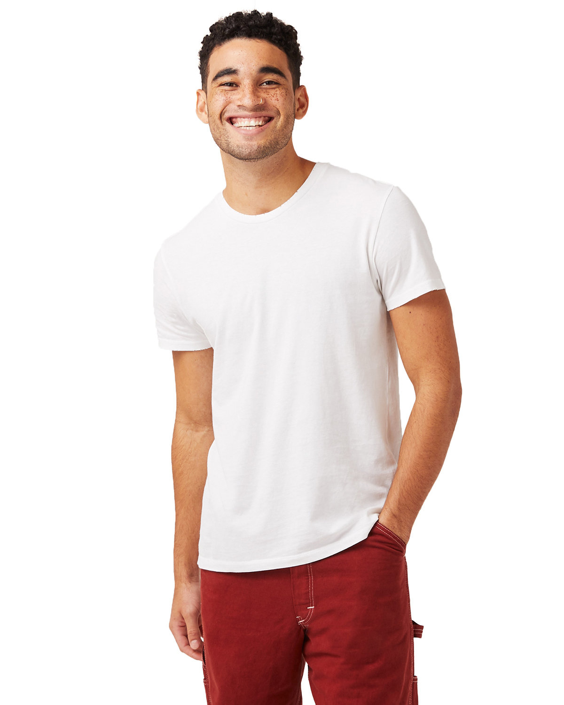 Alternative Men's Heritage Garment-Dyed Distressed T-Shirt WHITE REACTIVE