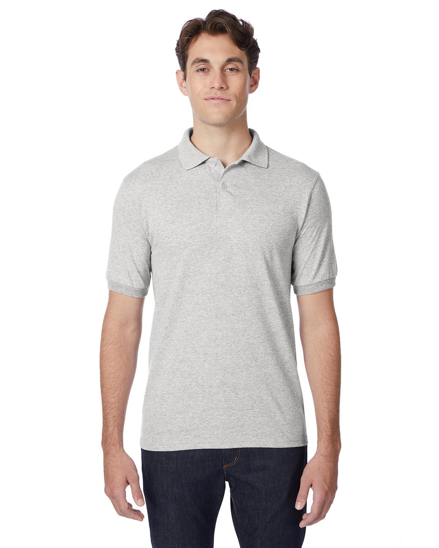Hanes Adult 50/50 EcoSmart® Jersey Knit Polo ASH