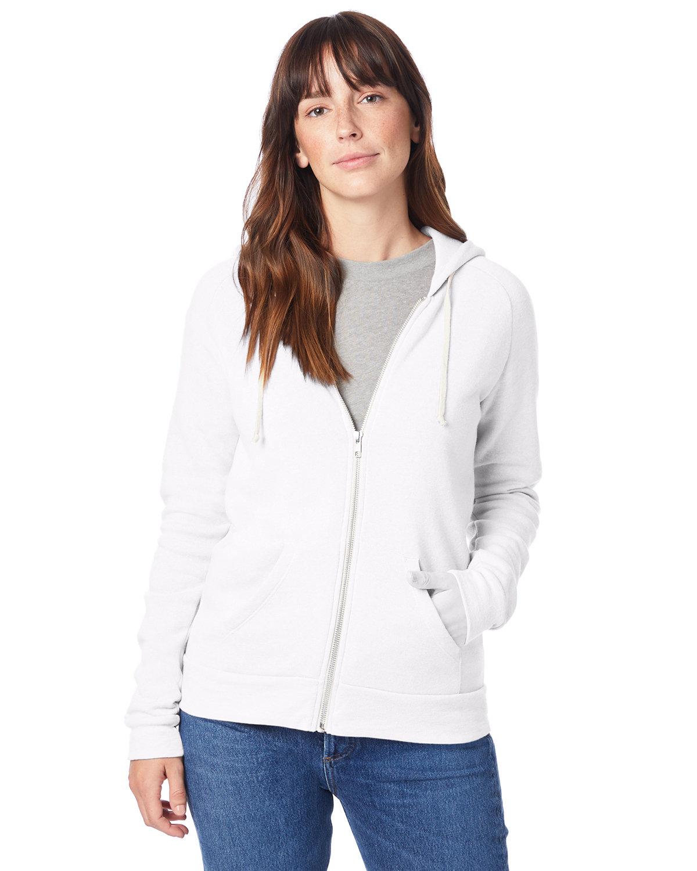 Alternative Ladies' Adrian Eco-Fleece Hoodie ECO WHITE